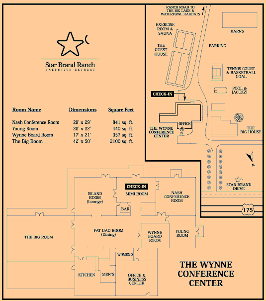 Star Brand Ranch Executive Retreat Floor Plan